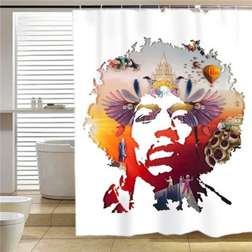 Jimi Hendrix Voodoo shower curtain