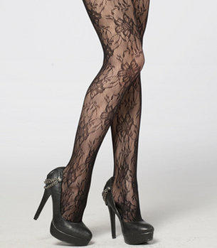 Midnight Garden Party Tights