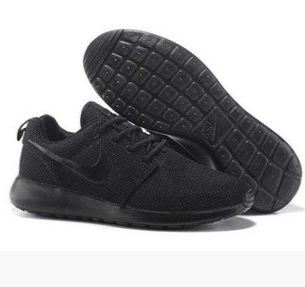 NIKE Women Men Running Sport Casual Shoes Sneakers Pure Black a27fbddef