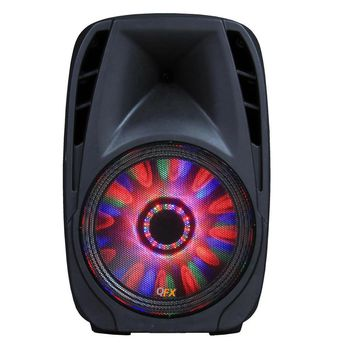 QFX 10 Battery Powered Portable Party Speaker With Bletooth-USB-SD-FM Player, RGB LED Moonlight With ON-OFF Switch