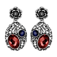 MLOVES Women's Classical Retro Ruby Earring Studs