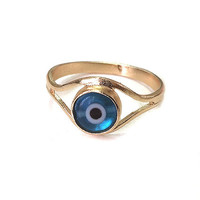 Evil Eye Gold Filled Ring