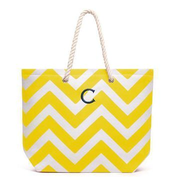 Extra Large Cabana Tote Bag - Yellow (Pack of 1)