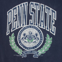 Vintage 1980's Penn State Crewneck Sweatshirt Large Santee Made in USA University Nittany Lions Pennsylvania Football NCAA College