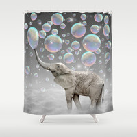 The Simple Things Are the Most Extraordinary (Elephant-Size Dreams) Shower Curtain by Soaring Anchor Designs