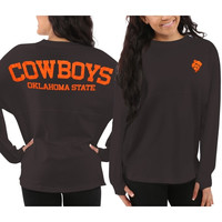 Oklahoma State Cowboys Women's Sweeper Long Sleeve Top – Gray