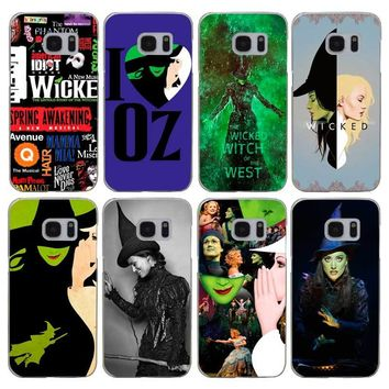 G67 Broadway Musical Wicked Transparent Hard PC Case Cover For Samsung Galaxy S Note 3 4 5 6 7 8 9 Edge Plus