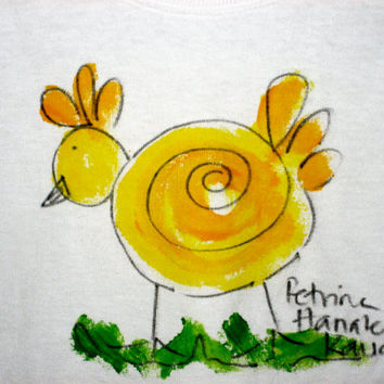 Hand Painted Chick T Shirt - Unisex Child Shirt - Kauai Chick T shirt - Easter Shirt - Hawaii Hand Painted - Custom made