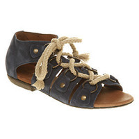 Office SLIPKNOTTED BLUE NUBUCK Shoes - Womens Sandals Shoes - Office Shoes