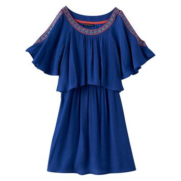 My Michelle Cold-Shoulder Dress - Girls