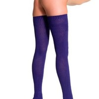 American Apparel Cotton Solid Thigh-High Socks