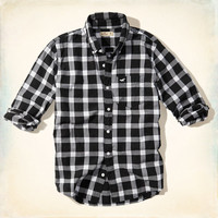 Black and White Check Shirt