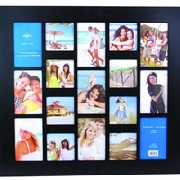 Capri Wood 22-Inch by 24-Inch Napa Collage Frame, Black