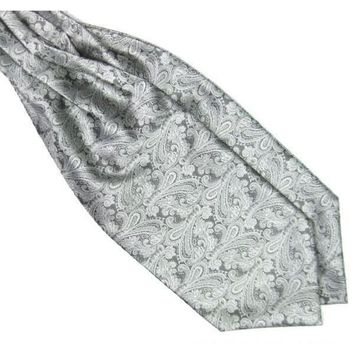 Men's Silver Paisley Gentleman Collection Ascot/Cravat Tie