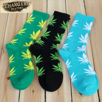 Germany's Harajuku Hiphop Men's Maple Leaf Sock Cotton Hose Long Skateboard Hip-hop Socks for Male