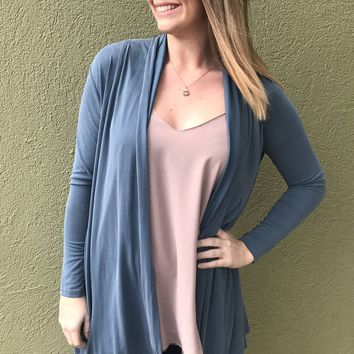 Caitlyn Cardigan - Misty Teal