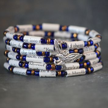 Harry Potter Ravenclaw Themed Book Bead Charm Bracelet