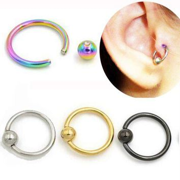 ac DCCKO2Q SaYao 2 Piece Stainless Steel Captive Hoop Rings CBR Eyebrow Tragus Nose Closure Body Piercings Jewelry Helix