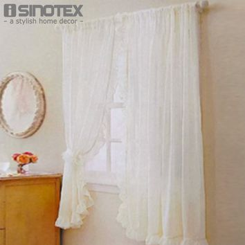 Window Curtain Purfle Decoration Sheer Curtain