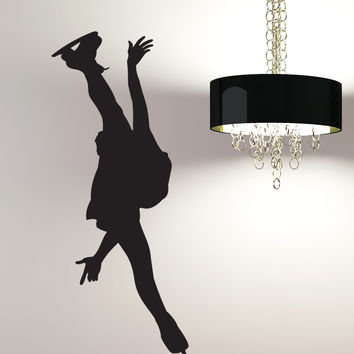 Vinyl Wall Decal Sticker Figure Skater #1545