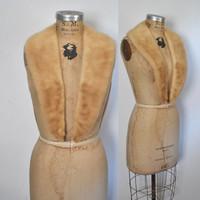 Large Blonde Mink Fur Collar / vintage