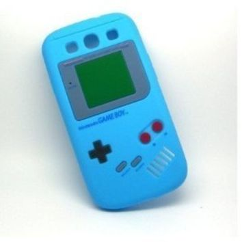 New Nintendo Game Boy Gameboy Soft Skin Silicone Case Cover for Samsung Galaxy S3 i9300, Cute Blue