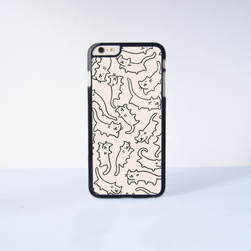 "Lots of cute flying cats Plastic Phone Case For iPhone iPhone 6 Plus (5.5"") More Case Style Can Be Selected"