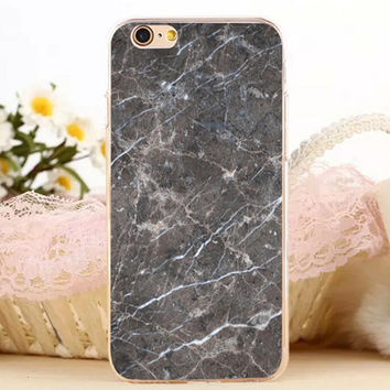 Black Marble Stone iPhone 7 7 Plus iPhone se 5s 6 6s Plus Case Cover + Gift Box
