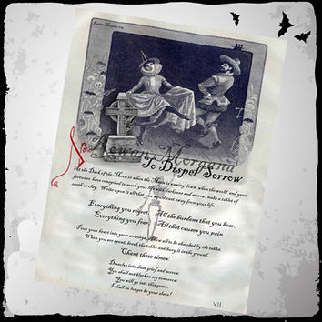 DISPEL SORROW SPELL, Digital Download,  Book of Shadows Page, Grimoire, Scrapbook, Spells