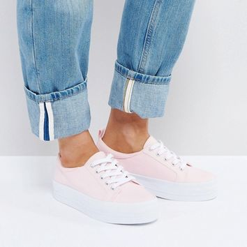 ASOS DUSTY Wide Fit Flatform Sneakers at asos.com