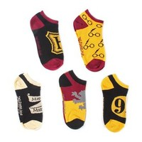 Harry Potter 5 Pack No Show Ankle Socks