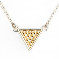 Women's Anna Beck 'Gili' Reversible Triangle Pendant Necklace - Gold/ Silver