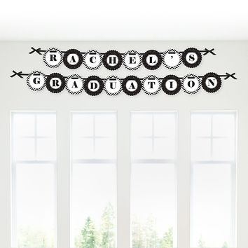 Tassel Worth The Hassle - Gold - Personalized Graduation Garland Letter Banner