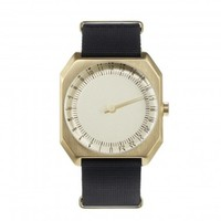 Black Nylon, Gold Case, Gold Dial