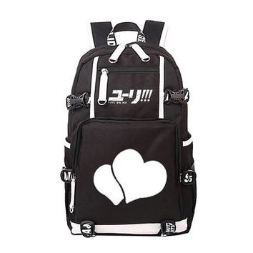 Japanese Anime Bag Women Men  Yuri on Ice Fancy Skate Backpack Rucksack Mochila Schoolbag Bag For School Boys Girls Student Travel AT_59_4