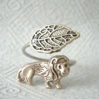 Silver Lion Wrap Ring on Luulla