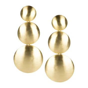 Greta Earrings in Brushed Gold