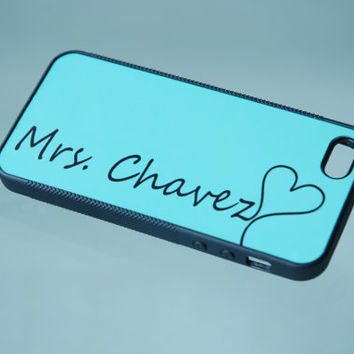Personalized Phone Case, iPhone 6 Case, iPhone 6 Plus Case, Samsung Galaxy S5 Case, iPhone Case, Mrs, Tiffany Blue