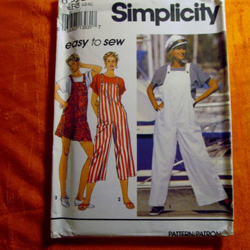 Sale Uncut 1993 Simplicity Sewing Pattern, 8363! Large-XL/Women's/Misses/Easy to Sew Overall's/Coveralls/Painter Overalls/Kimono Sleeve Shir