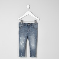 Mini girls blue Amelie skinny jeans - Baby Girls Jeans - Baby Girls Bottoms - Mini Girls - girls