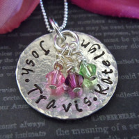 Grandma Necklace-Personalized Jewelry-Grandmother Jewelry-Mothers Necklace-Personalized Necklace-Mothers Day-Birthday-Gift