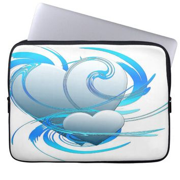 Swirls and Hearts Laptop Computer Sleeves