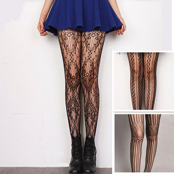 Sexy Charming Floral Pattern Fishnet Pantyhose Hosiery Tights Women   S030
