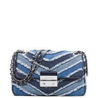 Sloan Large Denim Chevron Shoulder Bag | Michael Kors