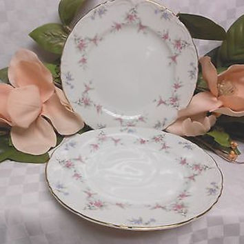 Royal M By Meito, China, dinnerware Japan, Fleurette Gold trim.set 2 Salad plate