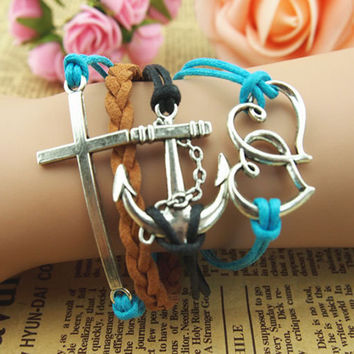 NT0116 Handmade leather cord bracelet