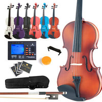 NEW SIZE 4/4 3/4 1/2 1/4 1/8 VIOLIN+EVERYTHING YOU NEED