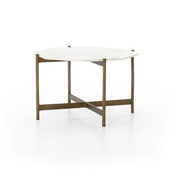 TANNER COFFEE TABLE-BRASS FINISH