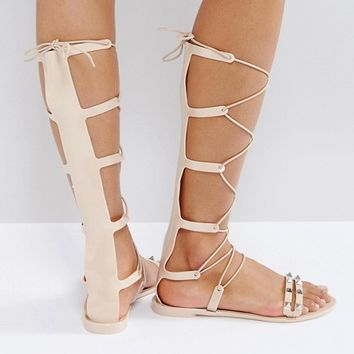 ASOS FREEMAN Jelly Gladiator Flat Sandals at asos.com
