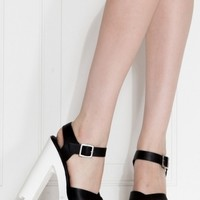 Black Faux Leather Cross Strap Lug Sole Heels @ Cicihot Heel Shoes online store sales:Stiletto Heel Shoes,High Heel Pumps,Womens High Heel Shoes,Prom Shoes,Summer Shoes,Spring Shoes,Spool Heel,Womens Dress Shoes